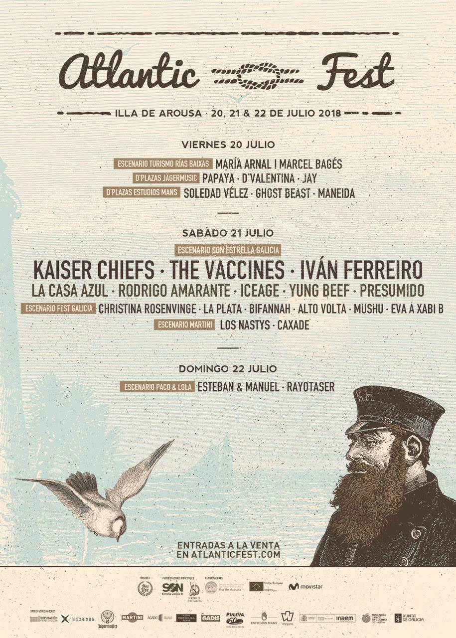cartel completo atlantic fest 2018