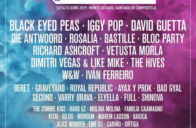O Son do Camiño 2019 desvela su cartel completo con Iggy Pop, Rosalía, Black Eyed Peas o David Guetta