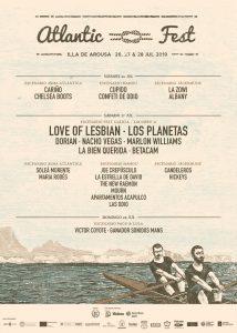 Atlantic Fest 2019 (viernes 26 de julio) @ Praia do Bao, Illa de Arousa, Pontevedra
