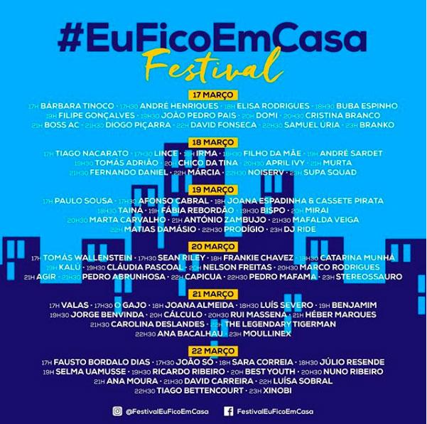 #EuFicoEmCasa Horarios