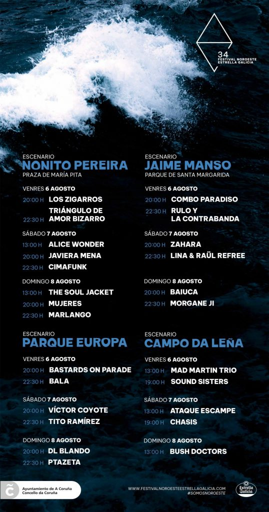festival noroeste estrella galicia 2021 horarios